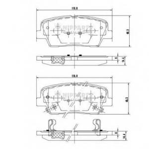 NIPPARTS N3610312 Комплект тормозных колодок