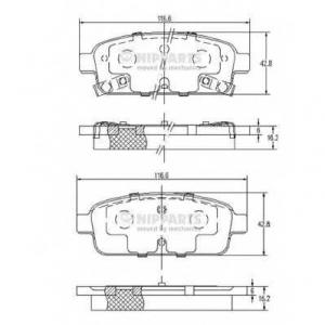 NIPPARTS N3610906 Комплект тормозных колодок