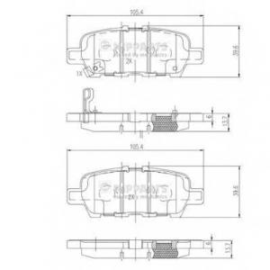 NIPPARTS N3611051 Комплект тормозных колодок