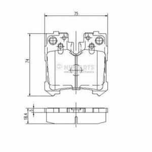 NIPPARTS N3612037 Комплект тормозных колодок