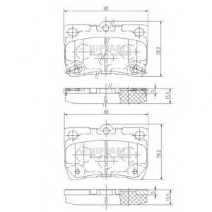 NIPPARTS N3612041 Комплект тормозных колодок