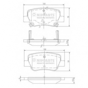 NIPPARTS N3612042 Комплект тормозных колодок