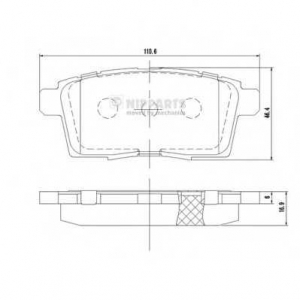 NIPPARTS N3613024 Комплект тормозных колодок