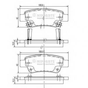 NIPPARTS N3614019 Комплект тормозных колодок, дисковый тормоз