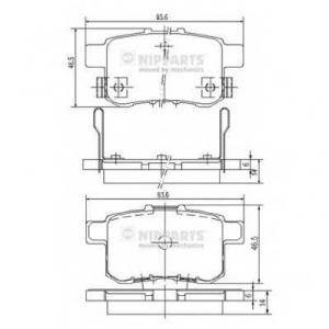 NIPPARTS N3614020 Комплект тормозных колодок