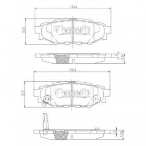 NIPPARTS N3617004 Комплект тормозных колодок