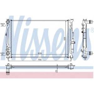 Радиатор, охлаждение двигател 60308a nissens - AUDI A4 (8D2, B5) седан 1.6