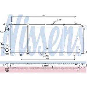 NISSENS 604201 Радиатор охлаждения AUDI 100 (C3) (82-) 1.8 (пр-во Nissens)