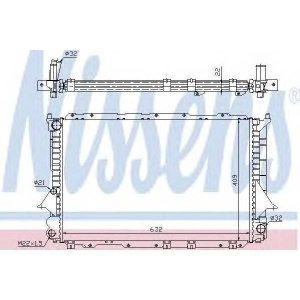60458 nissens Радиатор, охлаждение двигателя AUDI 100 седан 2.8 E