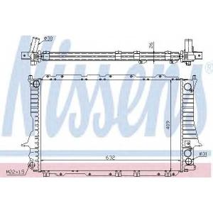 Радиатор, охлаждение двигател 60459 nissens - AUDI 100 (4A, C4) седан 2.6