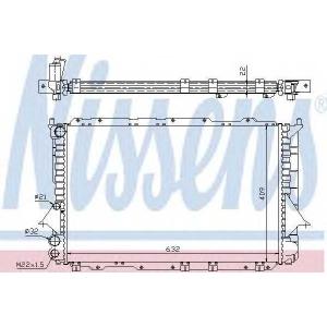 Радиатор, охлаждение двигател 60460 nissens - AUDI 100 (4A, C4) седан 1.6