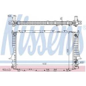 Радиатор, охлаждение двигател 60476 nissens - AUDI 100 (4A, C4) седан 2.6