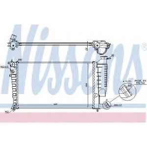 NISSENS 61313 Радиатор, охлаждение двигател