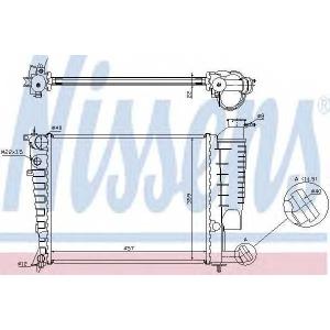 NISSENS 613671 Радиатор, охлаждение двигател