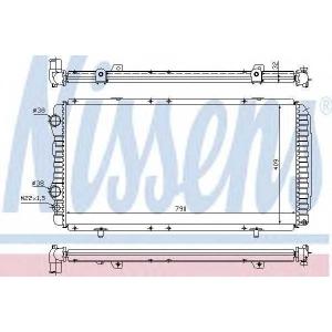 NISSENS 61390 Радиатор охлаждения CITROEN; FIAT; PEUGEOT (пр-во Nissens)