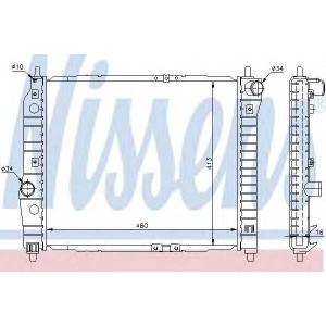 Радиатор, охлаждение двигател 61636 nissens - CHEVROLET AVEO седан (T250, T255) седан 1.2