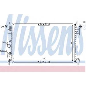 Радиатор, охлаждение двигател 616671 nissens - DAEWOO NUBIRA (KLAJ) Наклонная задняя часть 2.0 16V