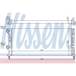 NISSENS 61765 Радіатор охолоджування