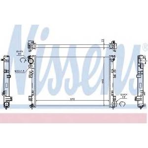 NISSENS 61875A Радіатор охолоджування