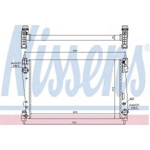 Радиатор, охлаждение двигател 61916 nissens - FIAT DOBLO Cargo (263) фургон/универсал 1.6 D Multijet