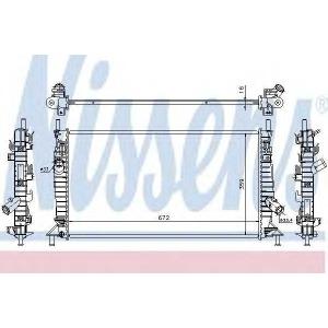 Радиатор, охлаждение двигател 62017a nissens - VOLVO C30 Наклонная задняя часть 1.6 D2