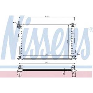 Радиатор, охлаждение двигател 62028a nissens - FORD FIESTA V (JH_, JD_) Наклонная задняя часть 1.4 16V