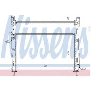 NISSENS 620411 Радиатор охлаждения FORD MONDEO III (00-) 1.8/2.0 (пр-во Nissens)