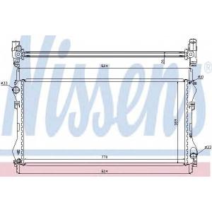 Радиатор, охлаждение двигател 62046a nissens - FORD TRANSIT автобус (FD_ _, FB_ _, FS_ _, FZ_ _, FC_ _) автобус 2.0 DI (F_E_, F_F_, F_G_)