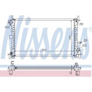 NISSENS 62075A Радиатор FD FOCUS I(98-)1.4 EFi(+)[OE 1061180]