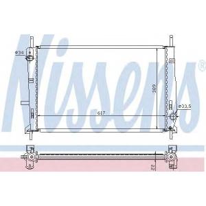 NISSENS 62104 Радиатор охлаждения FORD MONDEO (96-) 1.6-2.0 (пр-во Nissens)