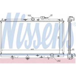 NISSENS 62258 Основной радиатор (двигателя)
