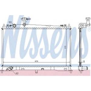NISSENS 62462A Радиатор, охлаждение двигател
