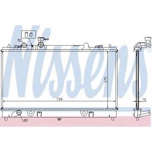 NISSENS 62464A Радиатор MZ 6(02-)2.3 i 16V[OE L327-15-200]