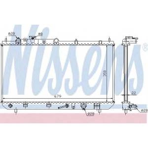 NISSENS 625081 Радиатор, охлаждение двигател