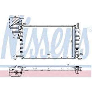 62519a nissens Радиатор, охлаждение двигателя MERCEDES-BENZ SPRINTER 2-t автобус 208 CDI