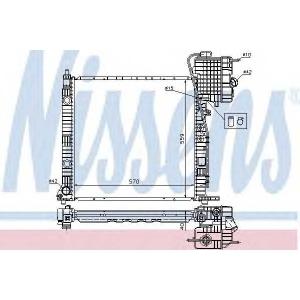 NISSENS 62559A Радиатор охлаждения MERCEDES VITO I W638 (96-) (пр-во Nissens)
