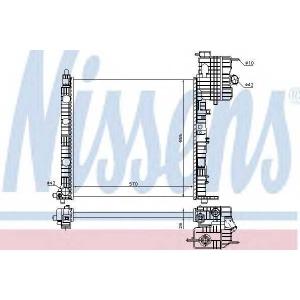 Радиатор, охлаждение двигател 62573 nissens - MERCEDES-BENZ VITO автобус (638) автобус 113 2.0 (638.114, 638.194)