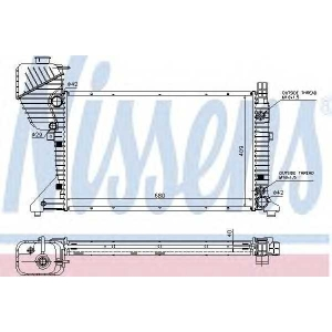 Радиатор, охлаждение двигател 62597a nissens - MERCEDES-BENZ SPRINTER 2-t автобус (901, 902) автобус 208 CDI