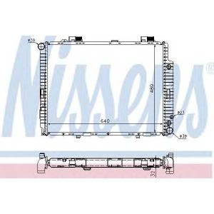 NISSENS 62608A Радіатор охолоджування