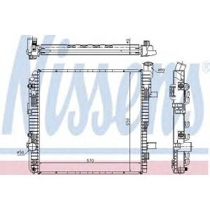 NISSENS 62625A Радиатор, охлаждение двигател