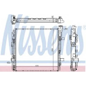 NISSENS 62626A Радіатор охолоджування