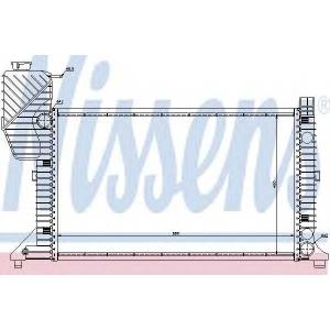 NISSENS 62664A Радіатор охолоджування