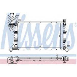 NISSENS 62685A Радіатор охолоджування