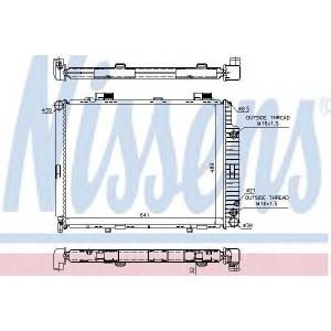 Радиатор, охлаждение двигател 62691a nissens - MERCEDES-BENZ E-CLASS (W210) седан E 220 D (210.004)