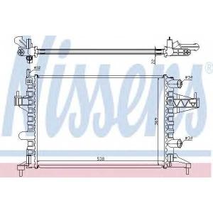 NISSENS 63007 Радіатор охолоджування