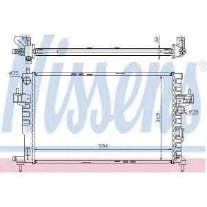 NISSENS 63009A Радіатор охолоджування