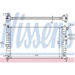 NISSENS 630121 Радиатор охлаждения OPEL VECTRA B (95-) 1.6-2.2 (пр-во Nissens)