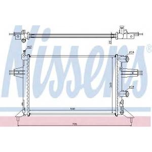 Радиатор, охлаждение двигател 63016 nissens - OPEL ASTRA G Наклонная задняя часть (F48_, F08_) Наклонная задняя часть 1.2 16V