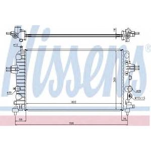 Радиатор, охлаждение двигател 63028a nissens - OPEL ZAFIRA B Van фургон 1.8