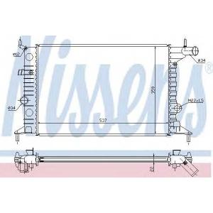 NISSENS 630681 Радіатор охолоджування